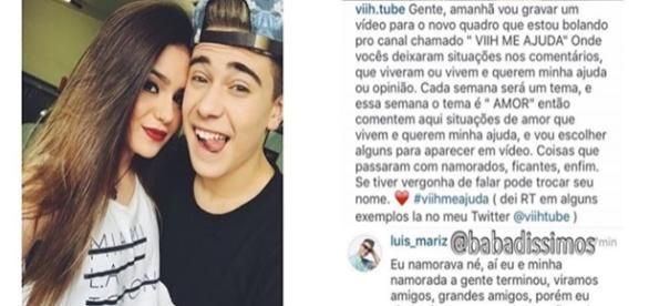 Luis Mariz pede ajuda de Viih Tube