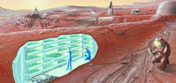 Mars Colony Concept (Credit NASA)
