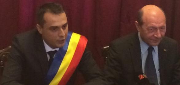 Traian Băsescu în vizită la Bocşa