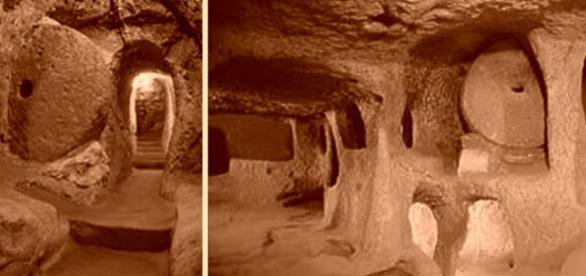 Imagini din orașul subteran Derinkuyu