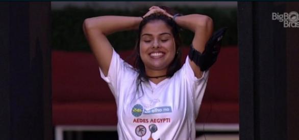 Munik durante prova (Reprodução/Globo)