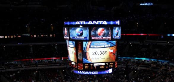United Center Arena lotada em jogo dos Bulls