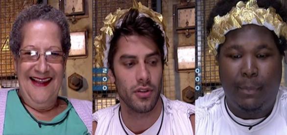 Dona Geralda, Renan e Ronan estão no paredão