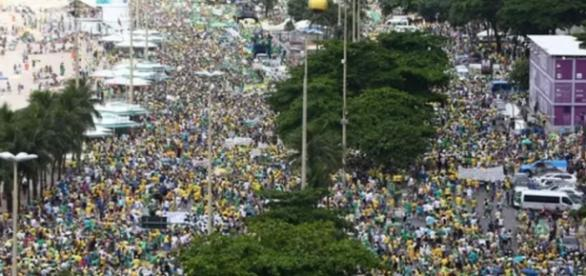 Manifestação no Rio de Janeiro - Foto/Reprodução