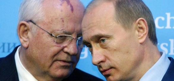 Mihail Gorbaciov și Vladimir Putin