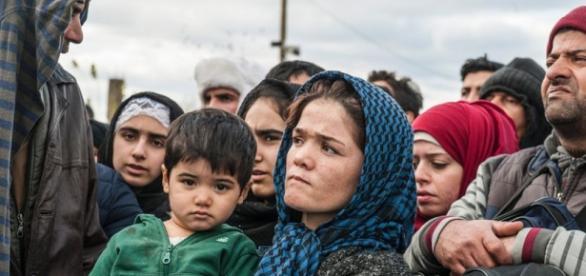 Refugiados sírios em Idomeni na Grécia