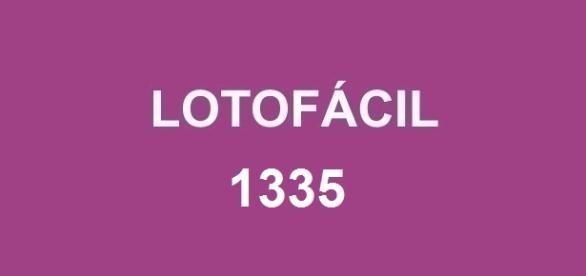 Concurso Lotofácil 1335; Prêmio de R$ 1,7 milhão.