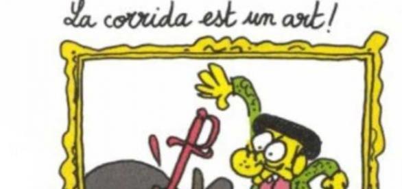 Dibujo de Charlie Hebdo contra las corridas.