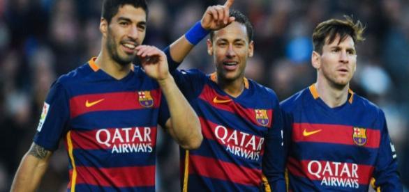 O trio MSN continua em alta no Barcelona