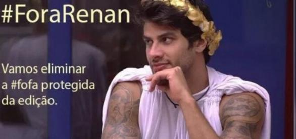 Renan sofre pressão para sair na internet