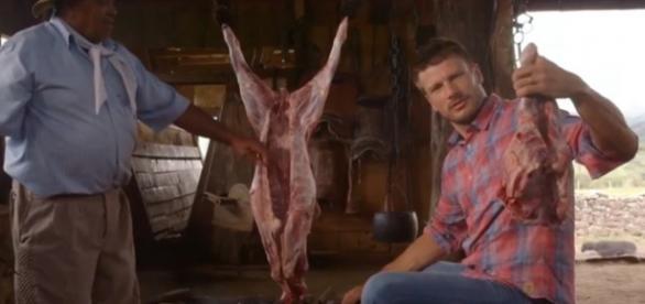Rodrigo Hilbert mata filhote de ovelha