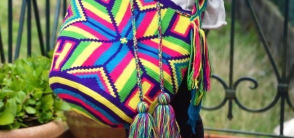 Un ejemplo de las impresionantes mochilas wayúu