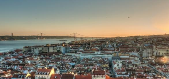 Bela vista da cidade de Lisboa