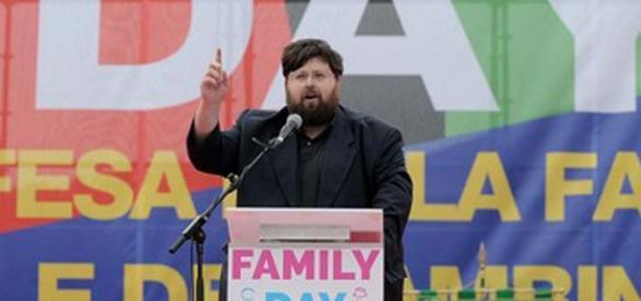 Mario Adinolfi, leader del Partito della Famiglia
