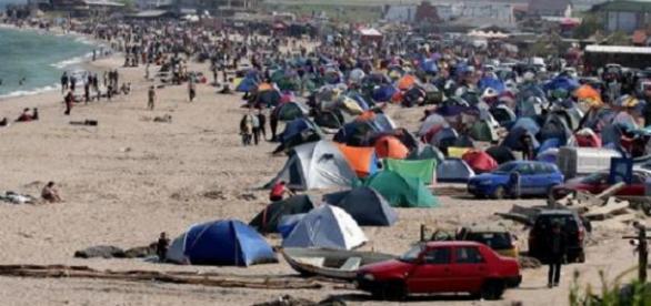 Vama Veche, tabără de refugiaţi