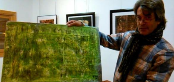 Pepe Leal en la exposición de Ciempozuelos(Madrid)