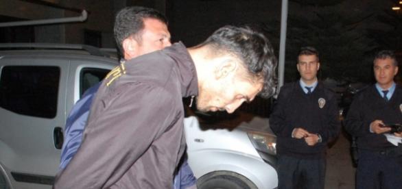 Foto da prisão do marroquino suspeito dos ataques