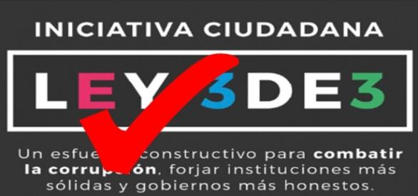 Logo de la Inicitaiva Ciudadana Ley3de3
