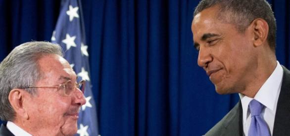 Raul Castro e Obama em reunião na sede da ONU