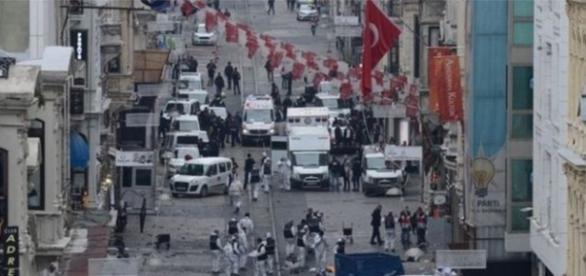 Atentando a Istambul no sábado, 19 (Foto: AFP)