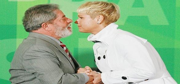 Foto: Divulgação Portal f5. Lula e Xuxa
