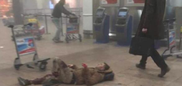 Imagen real de los atentados en Bruselas.