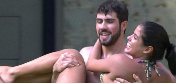 Laham e Munik (Reprodução/Globo)