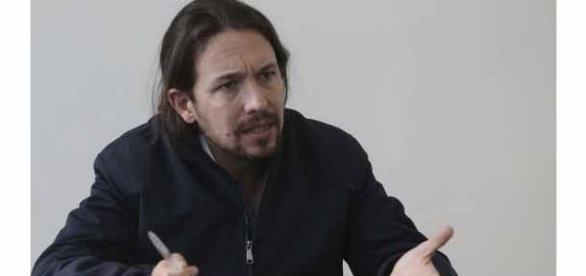 Pablo Iglesias durante un debate