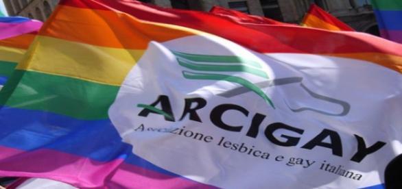 Bandera de la asociación gay Arcigay,Italia.Flickr