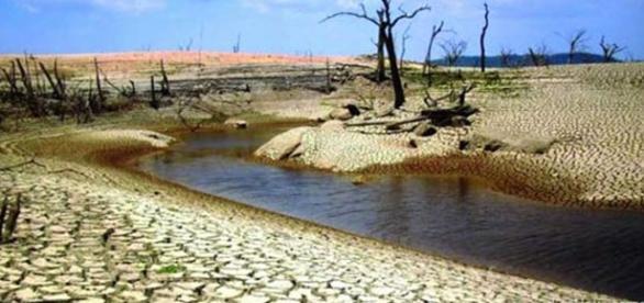 Disminución del nivel de agua en los pantanos.
