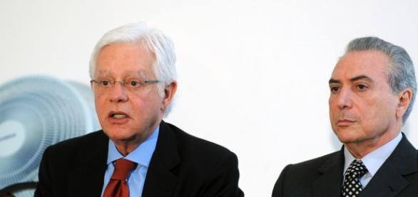 o Ex ministro Moreira Franco e Michel Temer.