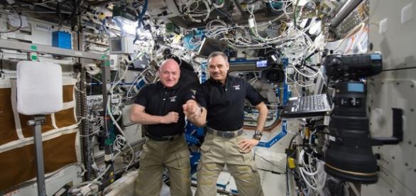 Scott Kelly and Mikhail Kornienko (NASA)