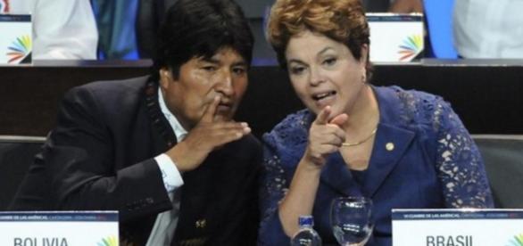 Evo Morales e Dilma - Foto/Divulgação