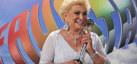 Hebe Camargo na TV Globo - Foto/Reprod