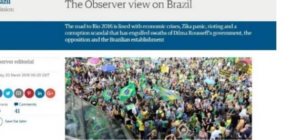 Jornal de domingo do 'The Guardian' pede renúncia