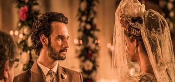 Afrânio e Leonor se casam na igreja