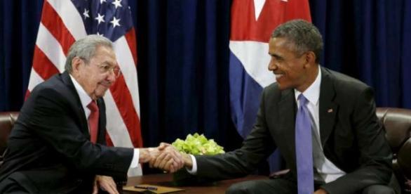 Encontro historico entre Raúl Castro e Obama deu-se hoje, 21 de Março.