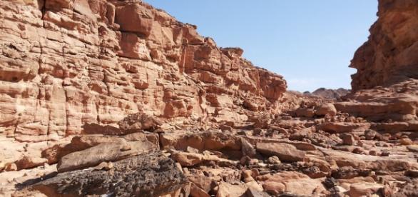 Un Canyon nel deserto del Sinai