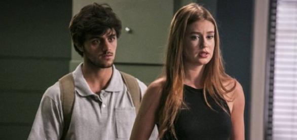 Eliza e Jonatas são ameaçados por Jacaré (Gshow)
