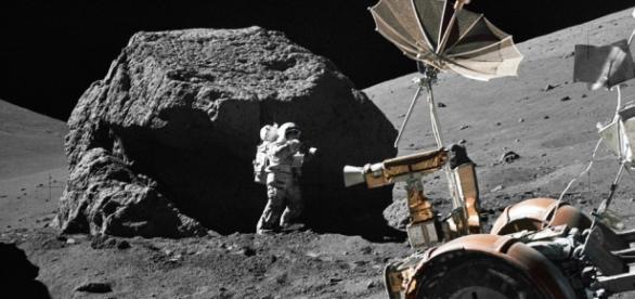 H. Schmitt working on the Moon (NASA Goddard Space Flight Center)