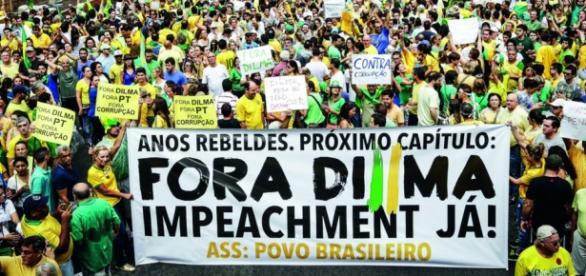 Manifestação contra Dilma - Foto/Reprodução
