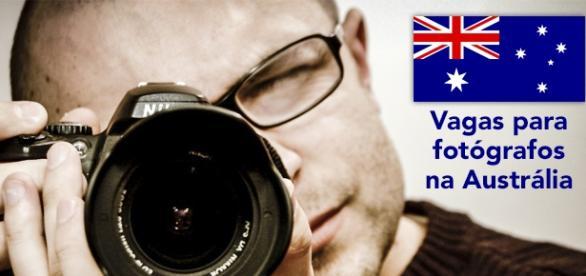 Vagas para fotógrafos na Austrália.