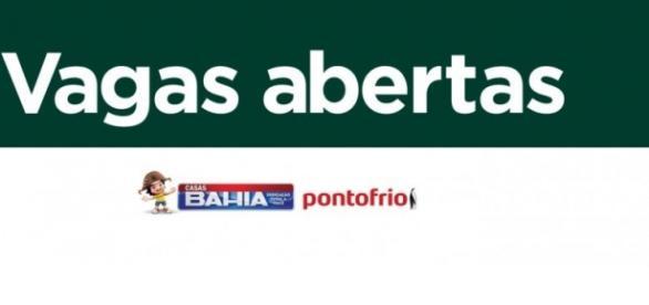 'Casas Bahia', 'Ponto Frio' e 'Lojas Colombo' abrem vagas