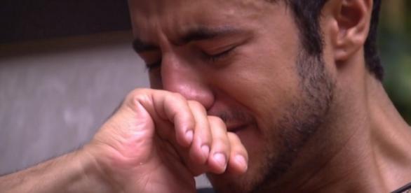 Matheus chora no 'Big Brother Brasil'