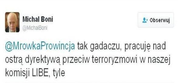 Michał Boni walczy z terroryzmem