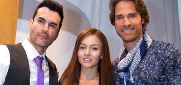 O trio protagonista de Tres Veces Ana.