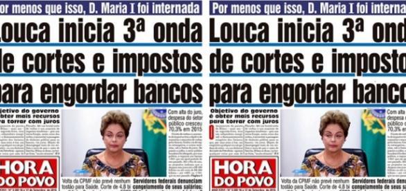 Jornal chama Dilma de louca - Foto/Reprodução