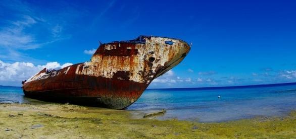BUQUE DE LA SEGUNDA GUERRA MUNDIAL EN TUVALU