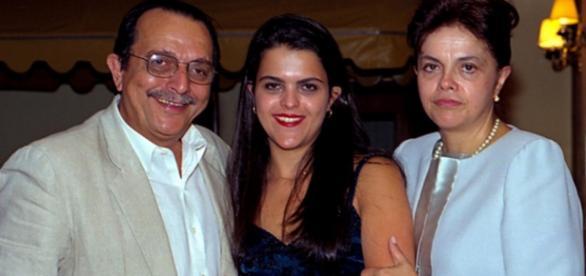 Dilma e sua família - Imagem da internet