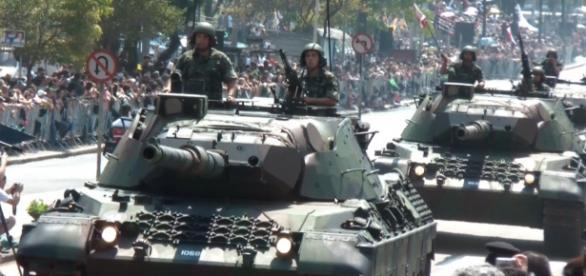 Em destaque, Exército do Brasil.